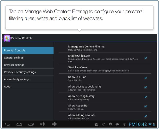 Safe Browser - Parental Controls - Step 3