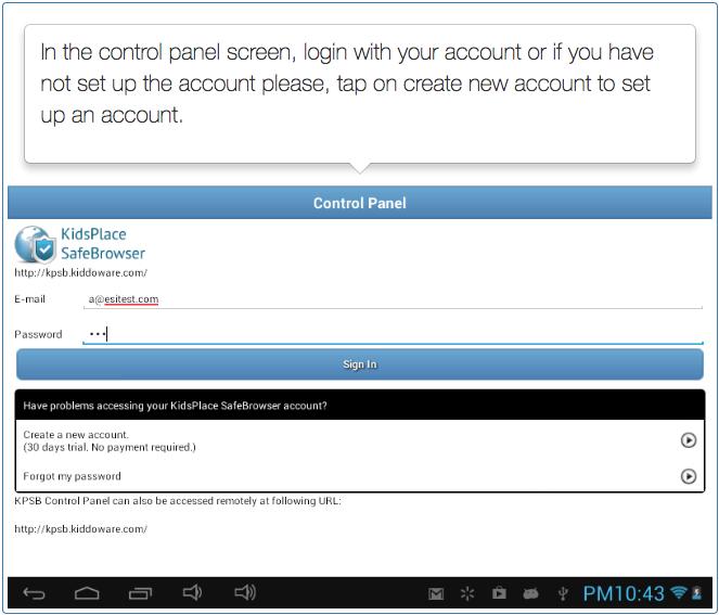 Safe Browser - Parental Controls - Step 4