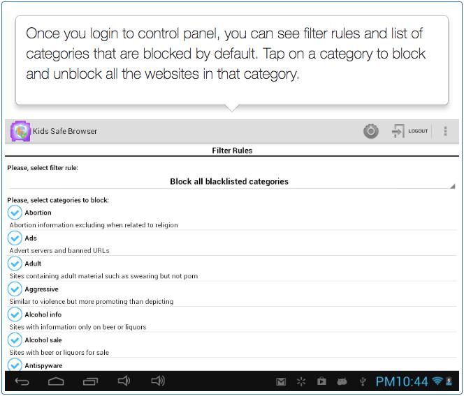 Safe Browser - Parental Controls - Step 5